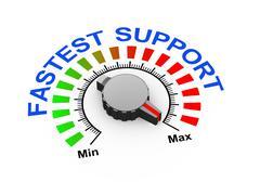 3d knob - fastest support - stock illustration