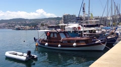 Kavala Harbour in Greece Stock Footage