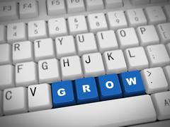 Stock Illustration of 3d keyboard - word grow