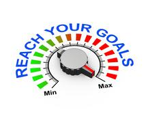 3d knob - reach your goal Stock Illustration