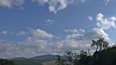 4k Clouds timelapse low mountain range Harz top destination Stock Footage