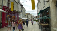 Pedestrian Street - Perigueux France - HD 4k+ Stock Footage