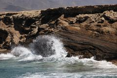 Punta de turbina , jandia , fuerteventura , canary islands Stock Photos