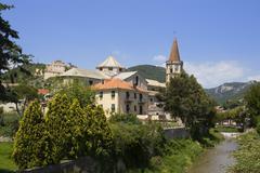 borgo ligure near finale ligure riviera di ponente liguria italy - stock photo