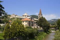 Borgo ligure near finale ligure riviera di ponente liguria italy Stock Photos