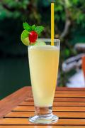 Pineapple shake soda - refreshment beverage Stock Photos