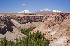 Valley in the atacama desert, northern chile, south america Stock Photos