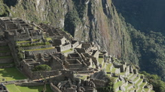 Tourists visiting Machu Picchu, Peru - UNESCO World Heritage Site Stock Footage