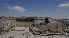 Jerusalem 4K Wailing wall wide view 25P Stock Footage