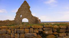 Ruins of st britta chapel, oland, sweden Stock Photos
