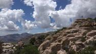 Stock Video Footage of 4K Young Woman Hikes Mt Lemon Tucson Arizona