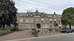 Front facade of the old St Elisabeth Hospital, Arnhem, Netherlands. Stock Footage