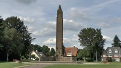The Airborne Memorial in Oosterbeek, near Arnhem, Gelderland, Netherlands. Stock Footage