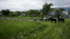 Confederate skirmish 2 Stock Footage