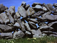 Stock Photo of stonewall, doolin, county, clare, ireland