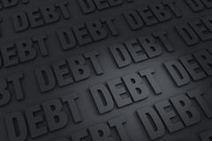 Endless debt Stock Illustration