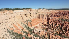 Bryce Canyon Utah pan across beautiful mountain valley HD 129 Stock Footage