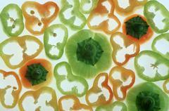 Pepper, cut (Capsicum annuum) - stock photo