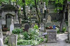 old churchyard pere lachaise, paris, france - stock photo