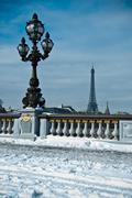 Alexander 3 bridge  by winter Stock Photos