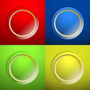 blank color buttons - stock illustration