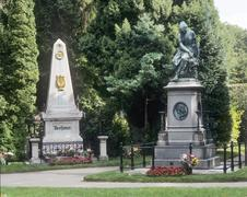 graves of beethoven and mozart - central cementary - vienna - austria - stock photo