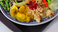 Macro - Kaohsiung vegetarian meal Stock Footage