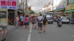 Cijin Island - market street Stock Footage