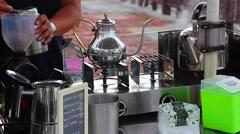 Cijin Island - outdoor mobile coffee Stock Footage