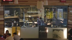 Pier 2 Art Center - radio station in a coffee shop Stock Footage