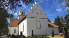 Fortified church on the island oland, sweden Stock Photos