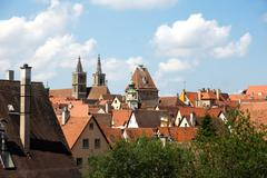 rothenburg ob der tauber - stock photo