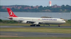Turkish Airlines arrival Stock Footage