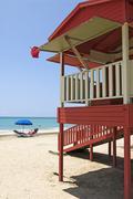 beach of luquillo, puerto rico - stock photo