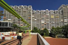 High-rise flats olympiadorf olympia village munich Stock Photos
