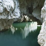grotto, pont d\'arc, ardeche, france - stock photo