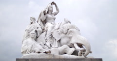 Statues at the Prince Albert memorial 4K - stock footage