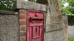 Postbox in Scotland  - stock footage