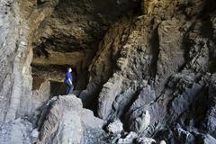 Caleta negra cave near ajuy , fuerteventura , canary islands Stock Photos