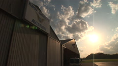 Knoxville Airport as sunsets Stock Footage