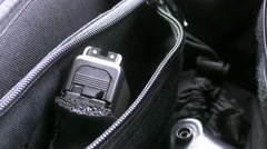 type glock pistol in the holster - stock footage