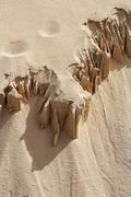 Formations in dunes , el jable , jandia , fuerteventura , canary islands Stock Photos