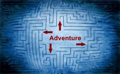 Adventure maze concept Stock Illustration