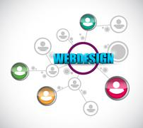 Stock Illustration of webdesign network concept illustration design