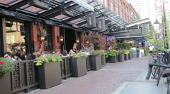 Yaletown restaurants in Vancouver Stock Footage