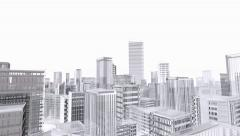 Aerial view of city buildings Stock Footage