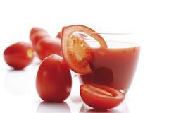 plum tomatoes, heirloom tomato variety (lycopersicon esculentum) and tomato j - stock photo