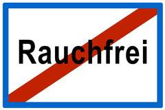 Stock Photo of symbolic picture, no more rauchfrei (ger. for smoke-free), anti-smoking bylaw
