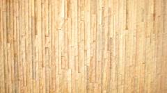 Beautiful light bamboo background Stock Footage