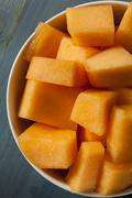 health organic orange cantaloupe - stock photo